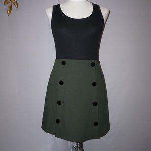 Loft Front Buttoned Green Skirt -  Size 4